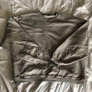 Sport gray long sleeve sweatshirt